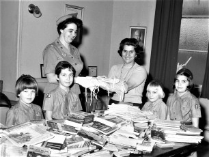 Kinderhook Girl Scouts at American Legion Post 1470 1968 (2)
