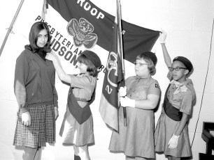 National Girl Scout Week Hudson Girl Scouts 1967