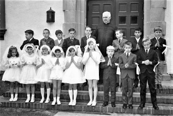 Ch. of the Ressurection 1st. Communion Father Alford 1970