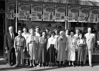Newberry's Dept. Store employees Hudson 1954 (2)