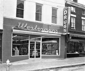Westerman's Pharmacy 622 Warren St. Hudson 1954