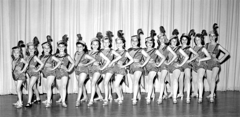 Brusie's School of Dance Rockette Group at St. Mary's Academy 1959