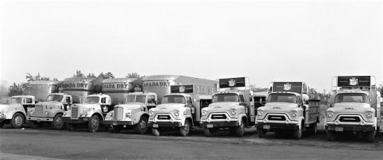 Canada Dry truck fleet Hudson Bottling Plant 1958 (2)