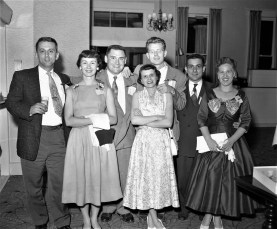 Friends partying at the General Worth Hotel Hudson 1956 (1)