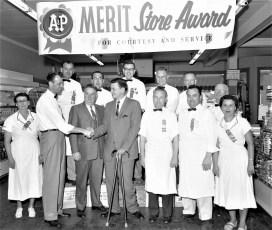 Hudson A&P recieving store award 1958