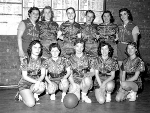 Hudson Youth Bureau Woman's Basketball Team 1958