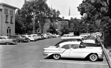 New City of Hudson  Parking Lot next to Elks Club  1957 (1)