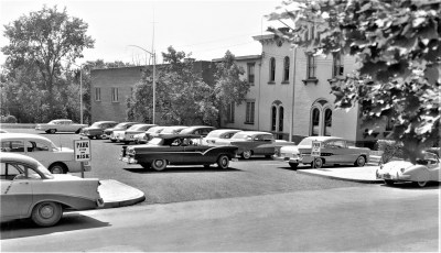 New City of Hudson  Parking Lot next to Elks Club  1957 (2)
