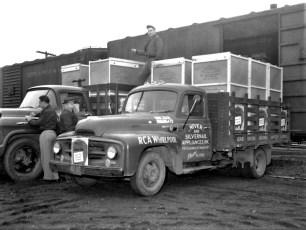 Niver and Silvernail Appliances loading trucks 1958