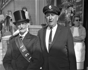 Hudson Fire Parade 1961 (1) Can anyone name these two gentlemen?