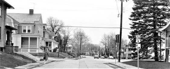 Intersection of Green St. & Fairview Ave. Hudson 1960s