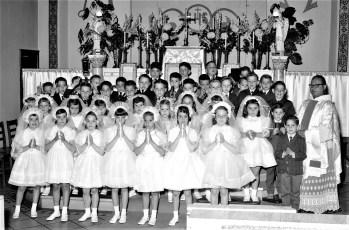 Mt. Carmel Church First Communion Hudson 1964