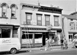Painting Ginsberg's 217 Warren St. by Andy Overstreet's Liberty  Improvement Co. Hudson 1964