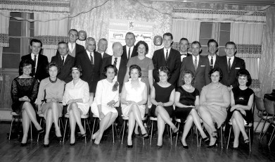 United States Trust Co. Christmas Party 1964