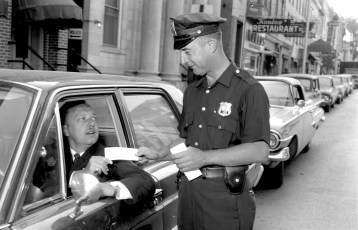 Hudson Police Youth Day ticket sale by Ptlmn. Brenner to Judge Lieberman 1965