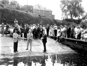 Ribbon Cutting Hudson Boat Launch Aug. 1968