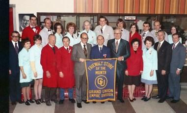 Grand Union Store Friendliest Award Hudson 1973
