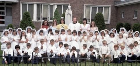 Mount Carmel Church 1st. Communion Hudson 1973 (1)