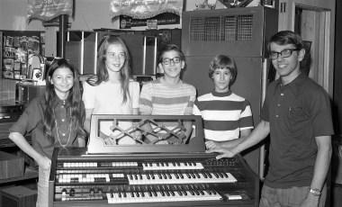 Organ Students at Niver's  Hudson 1971