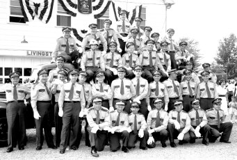 Clermont Firemen at Col. Cty. Firemens Parade in Livingston 1958 (1)