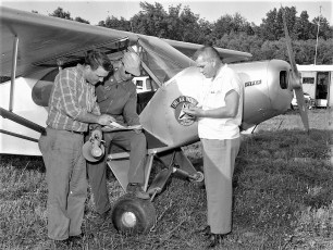 Col Cty Civil Air Patrol searching for lost plane 1960 (2)
