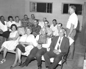 Col. Cty.Farm Bureau's Ed Buckley conducts meeting 1964