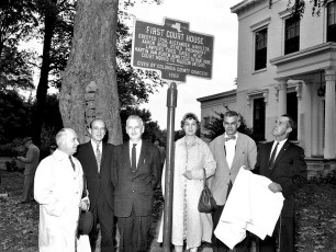 First Col. Cty. Court House plaque dedicated Claverack 1960