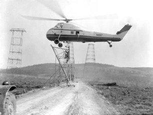 Hudson River Electric Tower Construction  1962 (2)