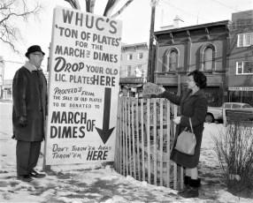 W.H.U.C. March of Dimes Drive Hudson 1964
