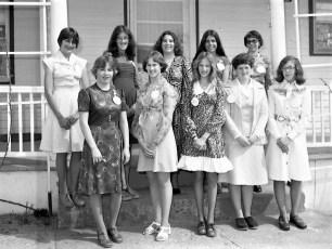 Col. Cty. Dairy Princess contestants 1977