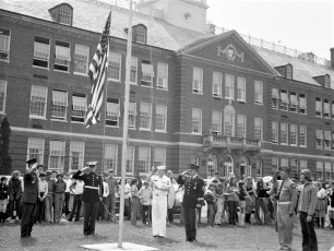Hudson VFW donates flags to Col. Cty. Schools 1973 (2)