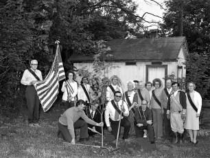 Mellenville Grange Members planting Bicentennial Tree 1976