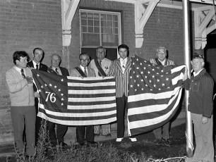 Mellenville Grange raising 76 Flag 1975