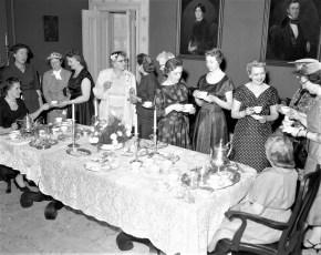 CMH 1958 Livingston Unit tea at Mrs. Gilbert's