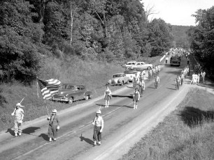 Col. Cty. Firemans Parade in Canaan 1956