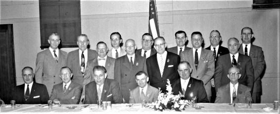 Col. Cty. Volunteer Fireman's Asso. Past President Banquet Elks Club 1958