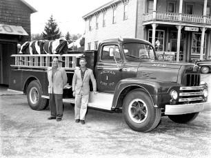 Ancram Fire Co. new International pumper 1960