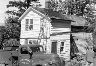 G'town Fire chimney fire 1957