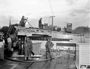 Hudson Fire Carpenter's Laundry Columbia St. July 1956 (2)