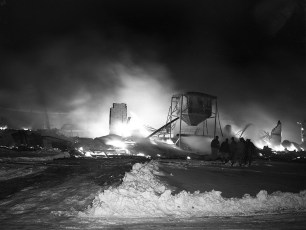Hudson Fire McCall Refrigerator Co. Plant Feb. 1952 (5)