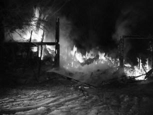 Tivoli Fire Huber's Barn Swamp Road Jan. 1957 (3)
