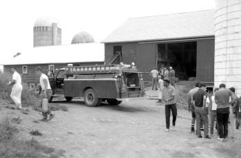 Ancram Fire Niver's Barn July 1967 (1)