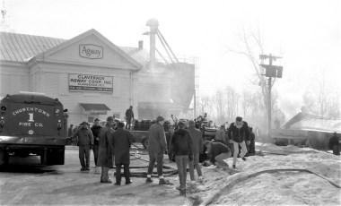 Claverack Fire Agway Coop wooden storage building Feb. 1968 (1)