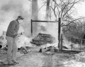 Claverack Fire Agway Coop wooden storage building Feb. 1968 (2)