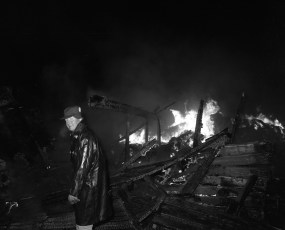Clermont Fire Jansen's Barn Jan. 1968 (2)