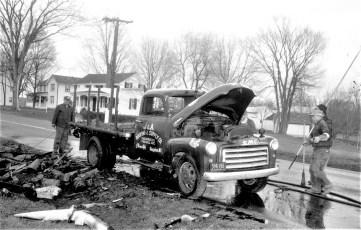Clermont Fire truck fire Rt. 9 Mar. 1961 (1)