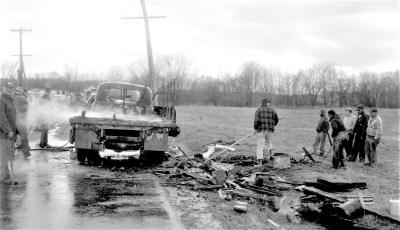 Clermont Fire truck fire Rt. 9 Mar. 1961 (3)