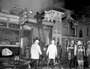 Hudson Fire 44 N. Fifth St. Waltermire's Store Jan. 1965 (1)