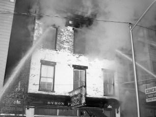 Hudson Fire Byron Parker Bldg. Warren St. Nov. 1966 (1)
