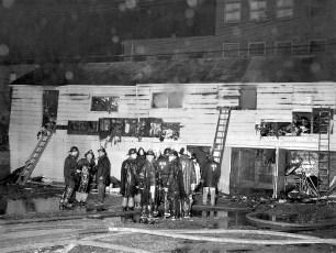 Hudson Fire Marsh's Warehouse Oct. 1964 (2)